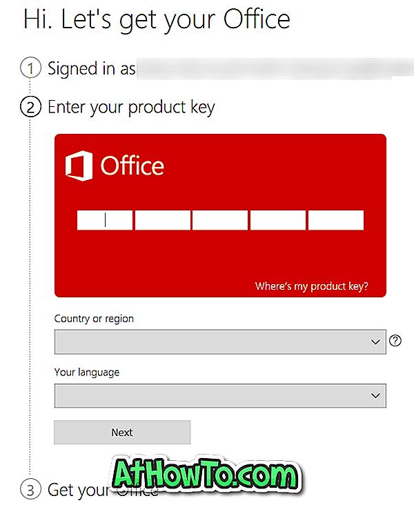 تحقق مما إذا كان مفتاح منتج Office 2016 أو 2013 صالح ا مايكروسوفت أوفيس