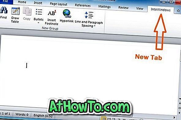 """Kaip pridėti naujus skirtukus į juostą """"Office 2010"""""""