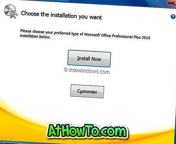 Как да инсталирате Office 2010 на различен дял