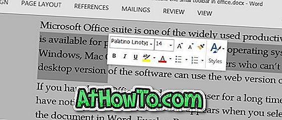Zakázat Mini Toolbar (On Selection) V aplikaci Microsoft Office Word