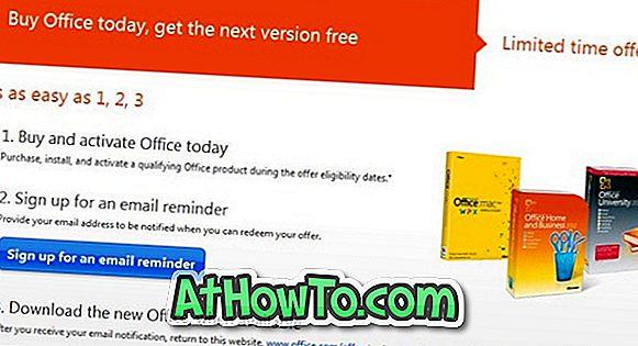 Offerta di aggiornamento gratuito di Office 2013