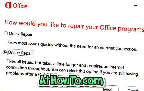 Comment réparer l'installation d'Office 365 sur Windows 10