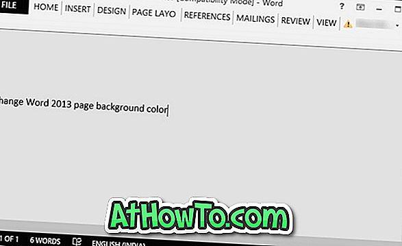 Hoe de achtergrondkleur van pagina's te wijzigen in Word 2016/2013