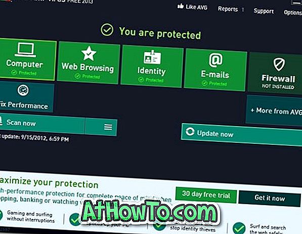 Pobierz AVG Antivirus Free 2013 na Windows 8