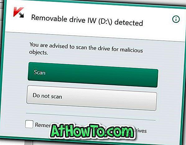Jak vytvořit Kaspersky automaticky skenovat USB vyměnitelné disky