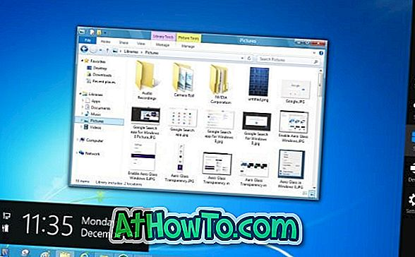 Allalaadimine Aero teema Windows 8 jaoks