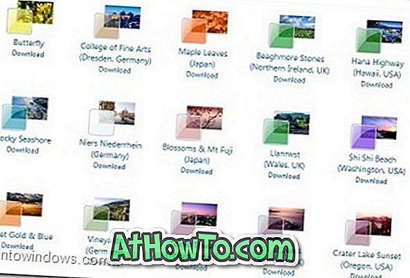 Laadige alla Windows 7 ametlikud teemad, taustapildid ja vidinad