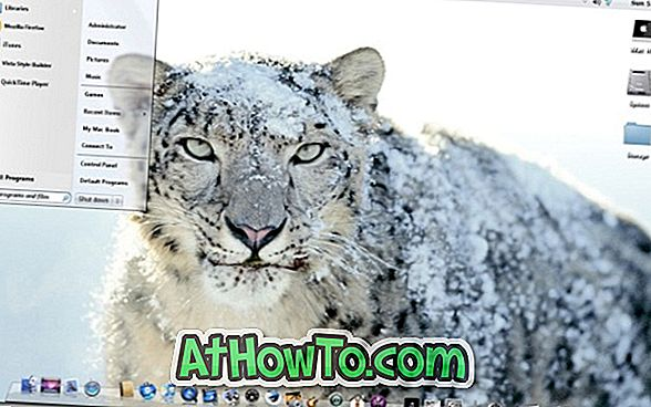 Laden Sie das Snow Leopard Aero Glass Theme für Windows 7 herunter