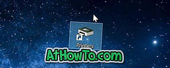 Windows 10에서 바탕 화면 바로 가기를 프린터 폴더로 만들기