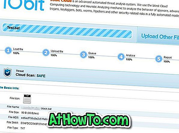 IObit Cloud: Un alt scaner bazat pe cloud
