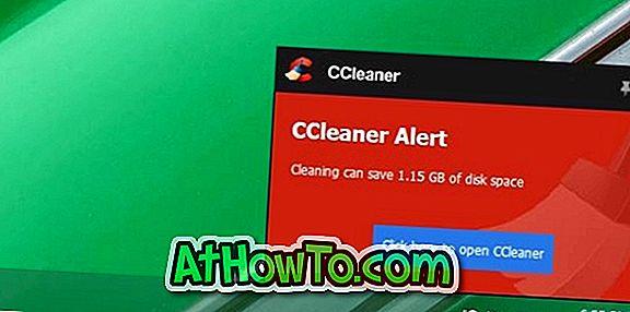 CCleaneri hoiatuse keelamine