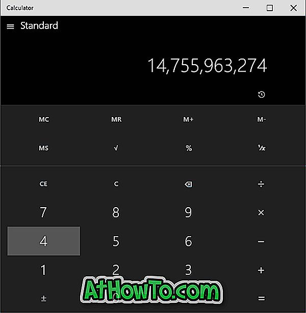 Вземи стария Windows 7 като калкулатор в Windows 10
