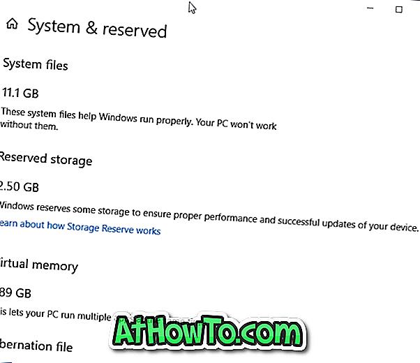 So aktivieren oder deaktivieren Sie reservierten Speicher in Windows 10
