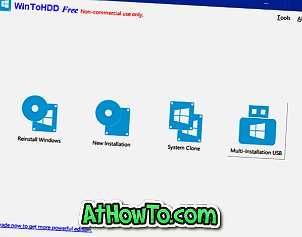 बहु स्थापित विंडोज USB ड्राइव बनाने के लिए WinToHDD का उपयोग करें