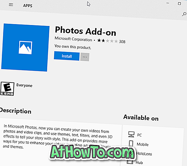 Download Photos Add-On til Photos App i Windows 10