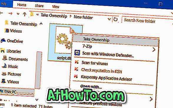 """Adicionar """"Take Ownership"""" ao menu do botão direito do mouse no Windows 10"""