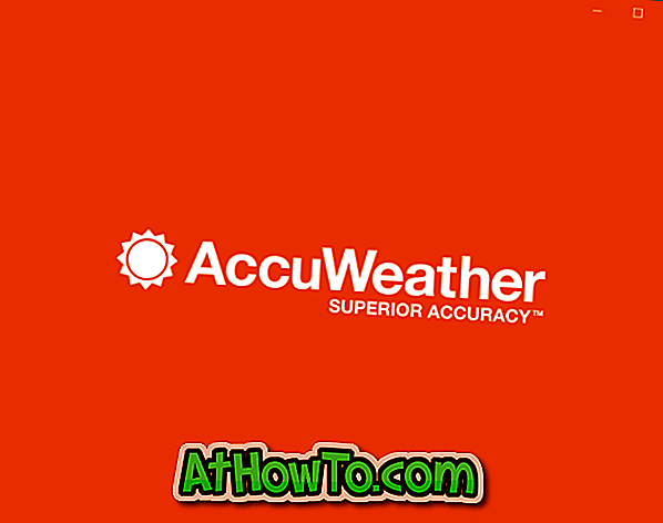 AccuWeather: buona applicazione Metro Weather per Windows 10/8