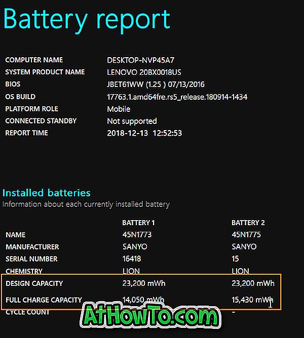 Come verificare la capacità attuale della batteria in Windows 10
