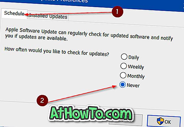 Deaktivieren Sie die Apple Software Update-Warnung in Windows 10