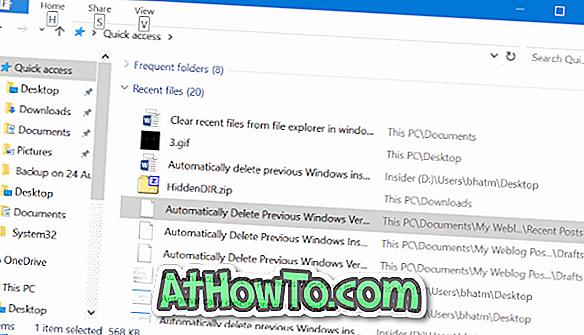 วิธีล้างไฟล์ล่าสุดจาก Quick Access ใน Windows 10 - windows 10
