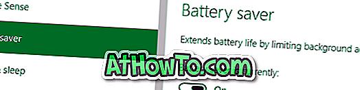 Aktivizēt vai atspējot akumulatora taupīšanu operētājsistēmā Windows 10