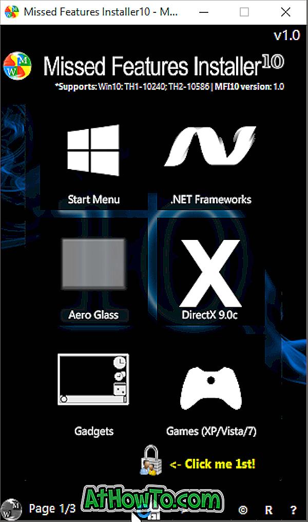 Pievienot Windows 7/8 trūkstošās funkcijas operētājsistēmai Windows 10 ar MFI