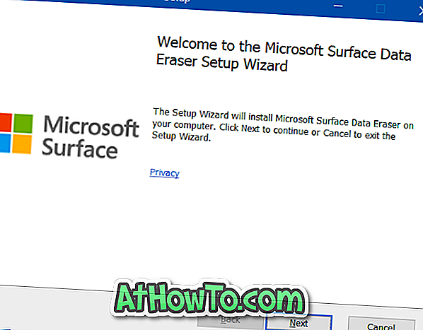 Laden Sie das Microsoft Surface Data Eraser-Tool herunter