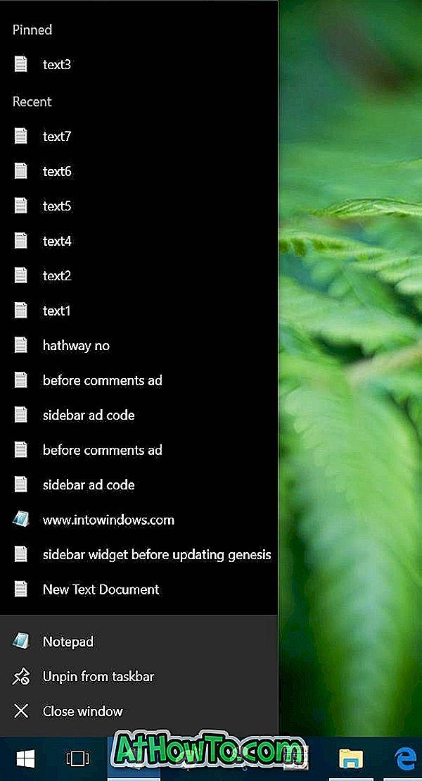 Zmena počtu položiek v zoznamoch odkazov v systéme Windows 10