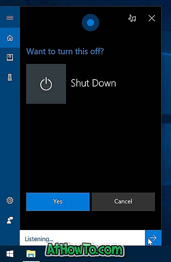 Cortana To Shutdown, Restart, Sign Out और Lock Windows 10 PC का उपयोग करें