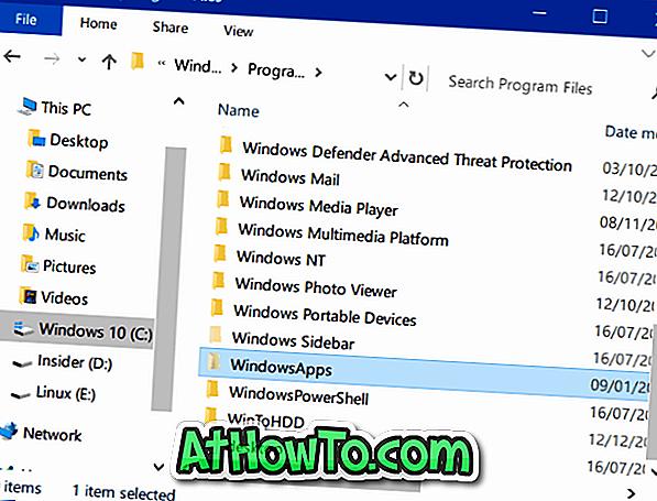 Jak přistupovat ke složce WindowsApps ve Windows 10