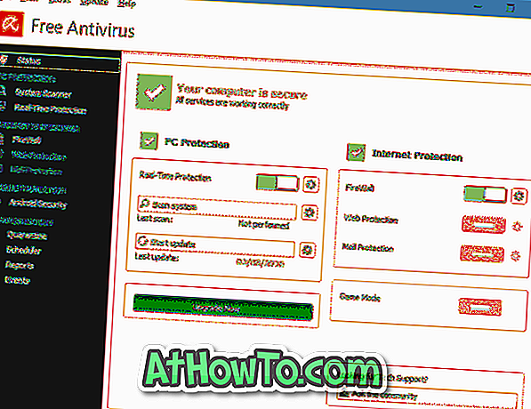 Laden Sie Avira Free Antivirus For Windows 10 herunter