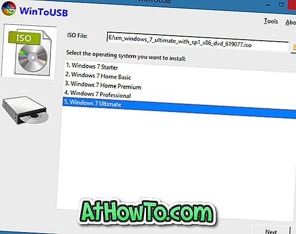WinToUSB: rīks Windows 10/7 instalēšanai un palaišanai uz USB diska