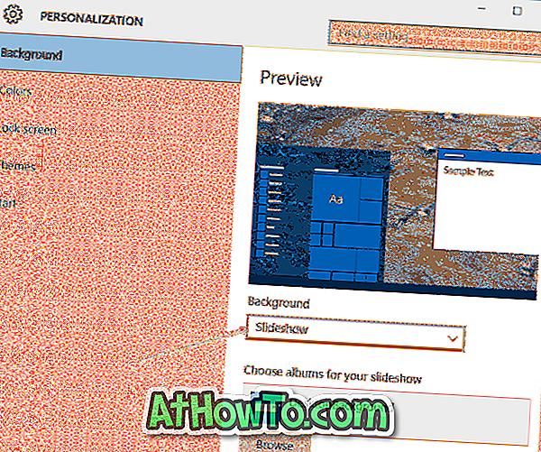 Correzione: Desktop Slideshow non funziona in Windows 10