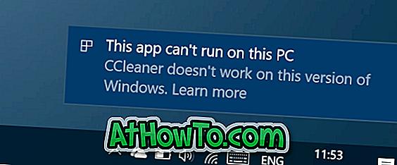 Fix: Cette application ne peut pas fonctionner sur ce PC Erreur dans Windows 10