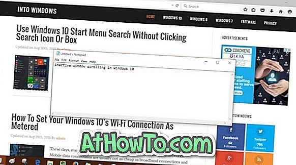 Deaktivieren des inaktiven Windows 10-Bildlaufs