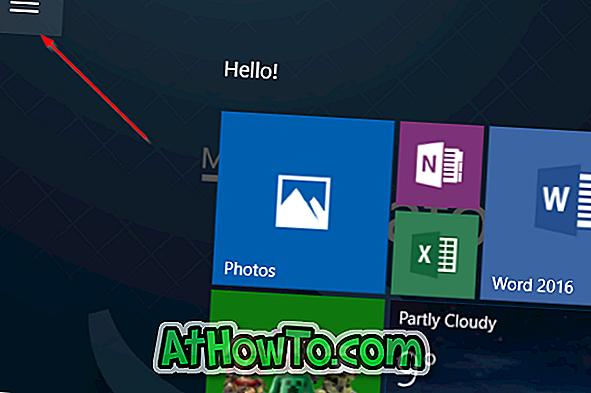 Přístup k ikonám na ploše a souborům v režimu Windows 10 Tablet