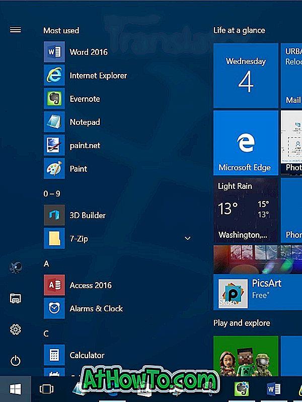 """Schaltfläche """"Alle Apps"""" fehlt im Startmenü von Windows 10"""