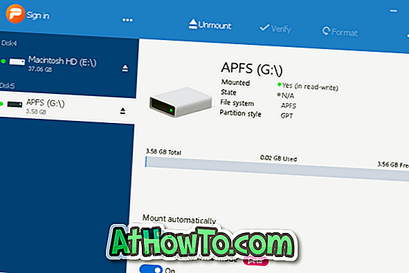 3 viisi APFS-draivide avamiseks Windows 10-s