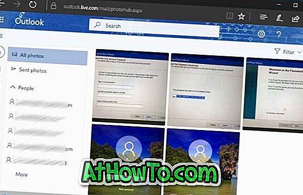 Download alle sendte og modtagne fotos fra alle e-mails i Outlook.com
