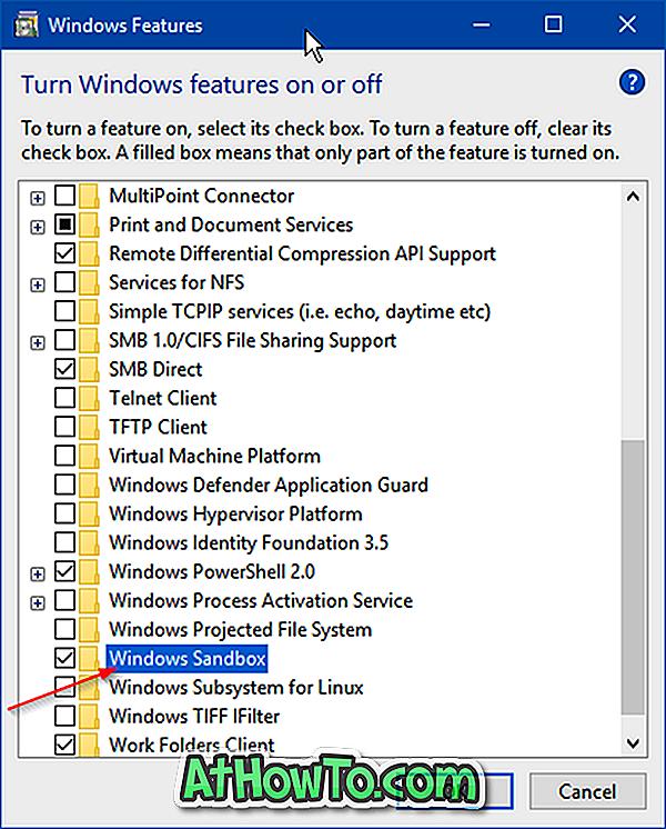 Jak włączyć lub wyłączyć Windows Sandbox w Windows 10 - okna 10