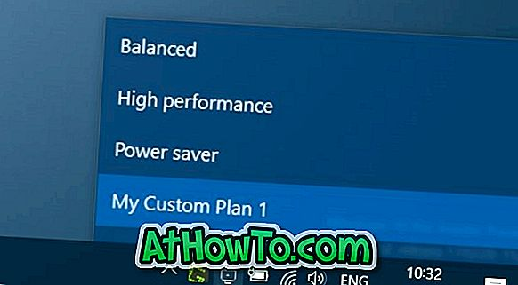 Power Plan Switcher: Ändern Sie den Energieplan in Windows 10 schnell über die Taskleiste