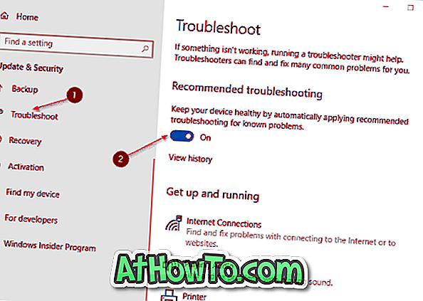 Автоматично прилагане на препоръчителни проблеми при известни проблеми в Windows 10