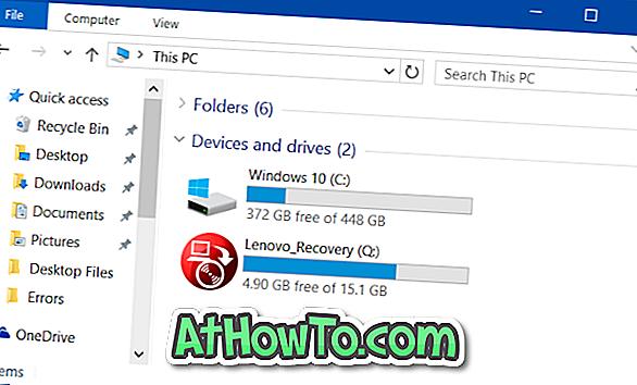 Cum să ascundeți partiția de recuperare în Windows 10 / 8.1 / 7