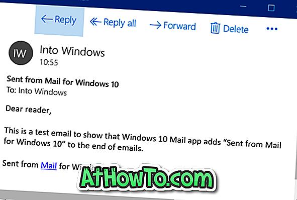 'विंडोज 10 के लिए मेल से भेजे गए' पाठ को कैसे निकालें