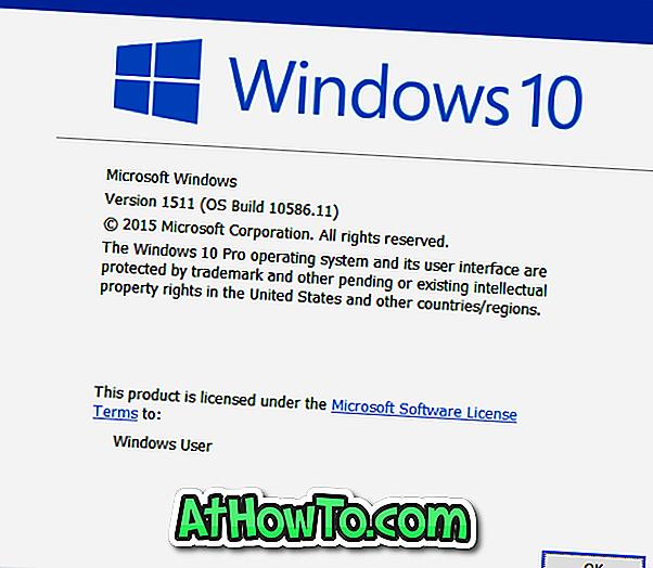 Sprawdź numer kompilacji systemu Windows 10