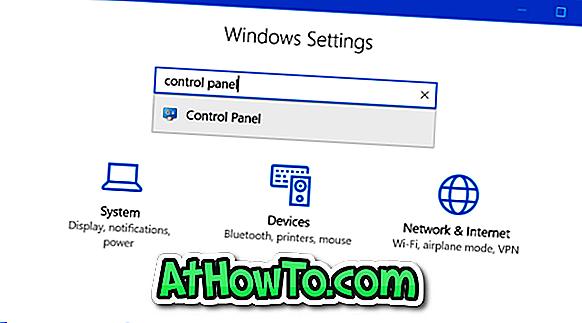 Cum se deschide panoul de control din setările din Windows 10