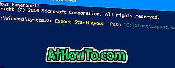 Sådan eksporteres og importeres startmenulayout i Windows 10