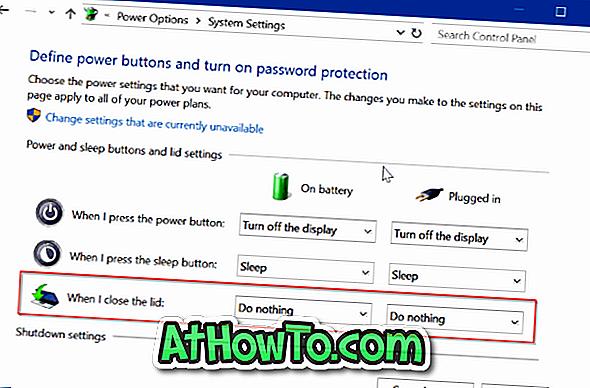 Verhindern, dass der Laptop beim Öffnen des Deckels in Windows 10 gestartet wird