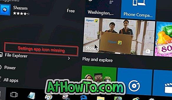 Oprava: Chybí nastavení z nabídky Start v systému Windows 10