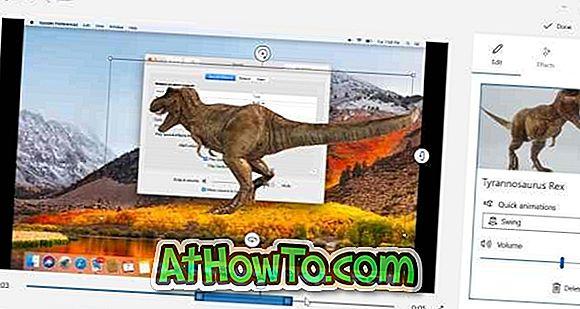 3D-efektide lisamine fotodele Rakenduse Photos rakendamine Windows 10-s
